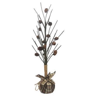 Harvest Mensware Pine Cone Figural Tree