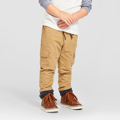 Toddler Boys' Jersey Lined Pant Brown 2T - Cat & Jack™