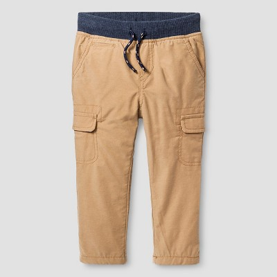 Baby Boys' Jersey Lined Pant Brown 12 M - Cat & Jack™