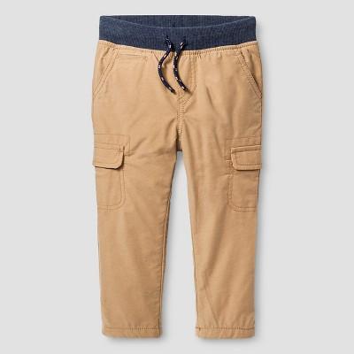 Baby Boys' Fleece-Lined Cargo Pant - Brown 12 M - Baby Cat & Jack™