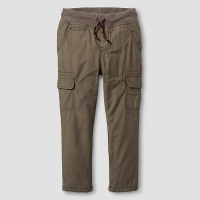 Toddler Boys' Jersey Lined Pant Olive Green 2T - Cat & Jack™
