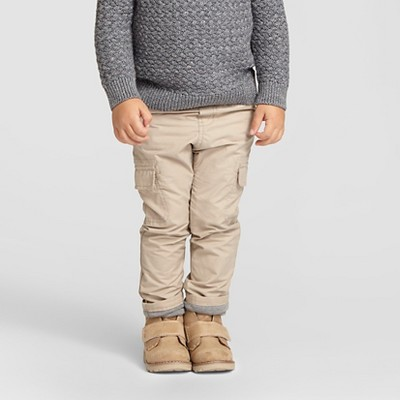 Toddler Boys' Jersey Lined Pant Vintage Khaki 2T - Cat & Jack™