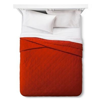 Linen Blend Quilt (Full/Queen) Red - Threshold™