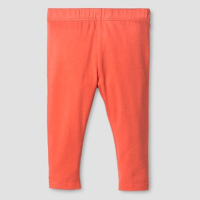 Baby Girls' Solid Legging Baby Cat & Jack™ - Hawaiian Coral 3-6M