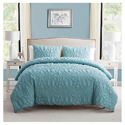 Shore Down Alternative Comforter Full/Queen Aqua 3 Piece - VCNY®