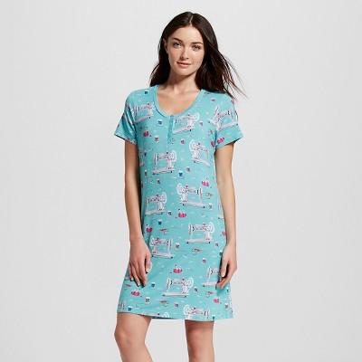 Nite Nite Munki Munki® Women's Sewing Nightgown - Turquoise S