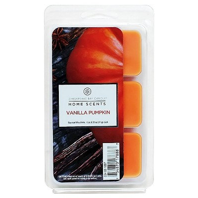 Warmer Scent Melts Vanilla Pumpkin Orange Candle 6pk Home Scents by Chesapeake Bay