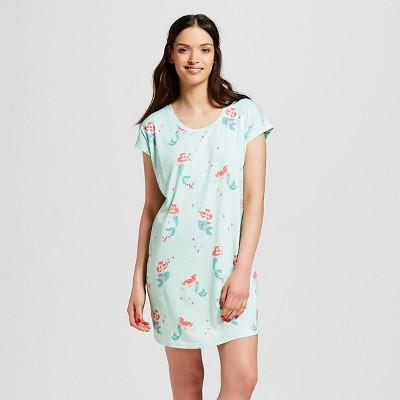 Nite Nite Munki Munki® Disney Women's The Little Mermaid Nightgown - Mint Green S