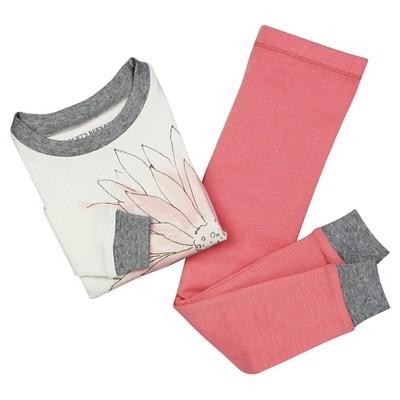 Baby Girls' Burt's Bees Baby Watercolor Organic Cotton Tight Fit 2-Piece Pajama Set Primrose Pink