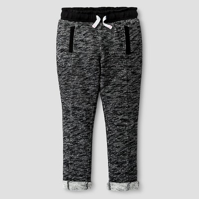 Baby Girls' Cozy Jogger Pants Baby Black 12M - Cat & Jack™