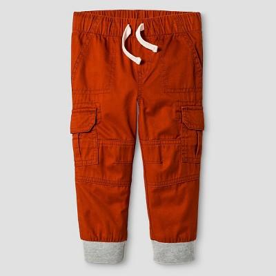 Baby Boys' Woven Cargo Pant - Dark Orange 12 M - Cat & Jack™