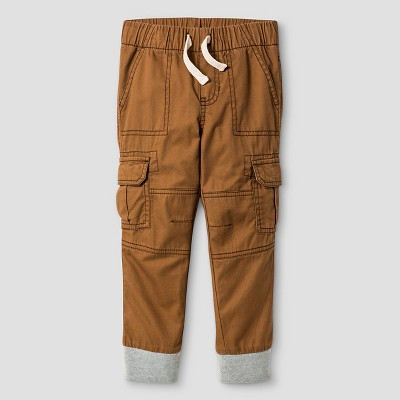 Toddler Boys' Woven Cargo Pant - Toasted Brown 4T - Cat & Jack™