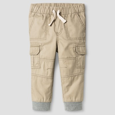 Baby Boys' Woven Cargo Pant - Vintage Khaki 12 M - Cat & Jack™