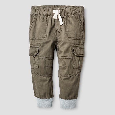 Baby Boys' Woven Cargo Pant - Olive Green 12 M - Cat & Jack™