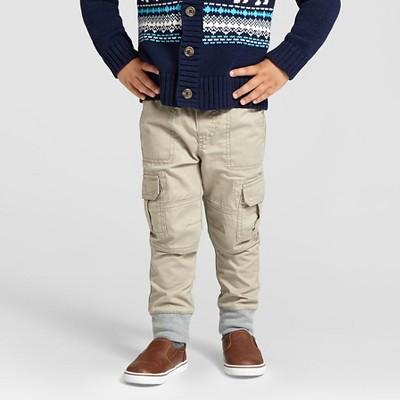 Toddler Boys' Woven Cargo Pant - Vintage Khaki 2T - Cat & Jack™