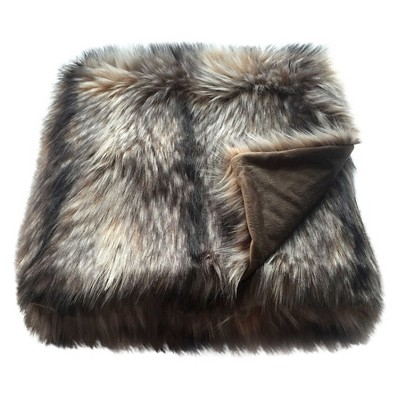 Raccoon Faux Fur Throw Blanket - Threshold™