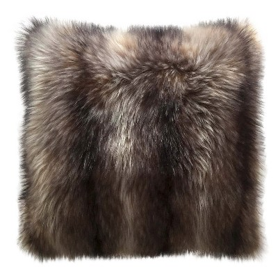 Raccoon Faux Fur Oversized Pillow -Threshold™