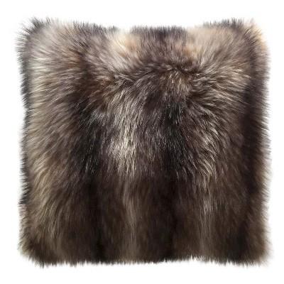 Raccoon Faux Fur Oversized Pillow -Threshold™
