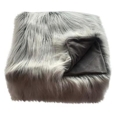 Faux Fur Throw Blanket White - Threshold™