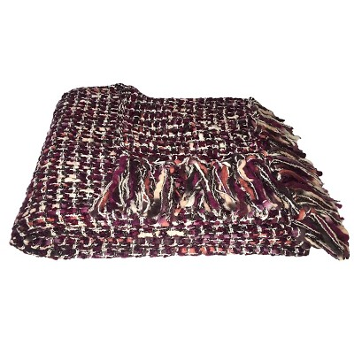 Woven Throw Blanket Purple - Threshold™