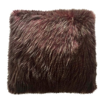 "Faux Ostrich Fur Pillow Purple (18""x18"") - Threshold™"