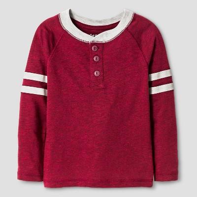 Toddler Boys' Henley Shirt - Bing Cherry Red 3T - Cat & Jack™
