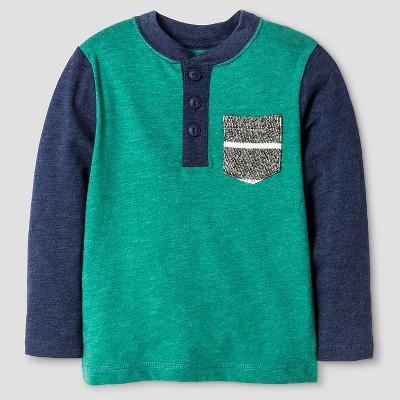 Toddler Boys' Henley Shirt - Bermuda Vine Green 3T - Cat & Jack™