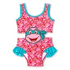 Toddler Girls' TMNT One Piece Swimsuit Pink/Blue 2T
