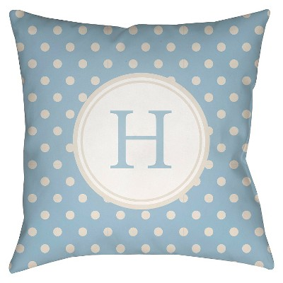 "Surya Treasured Friendship Eta Pillow - Light Blue (18"" x 18"")"