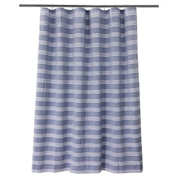 Blue Striped Shower Curtain : Target