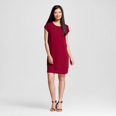 Red target dress