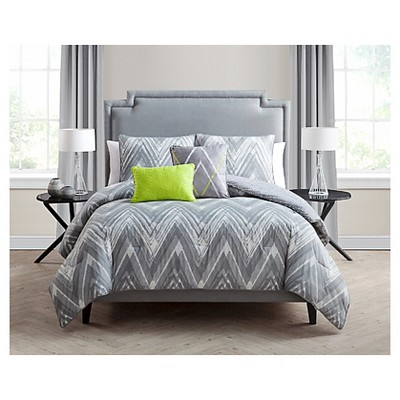 Malina Comforter Set Queen Gray 5 Piece - VCNY®