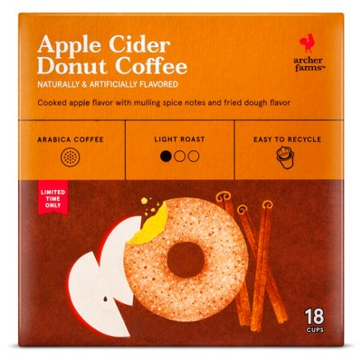 Apple Cider Donut Coffee Single Cups 18ct - Archer Farms™