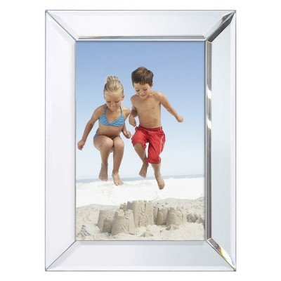 "Bevel Mirror 4""x6"" Silver Frame - Threshold™"