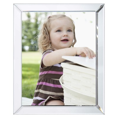 "Bevel Mirror 8""x10"" Silver Frame - Threshold™"