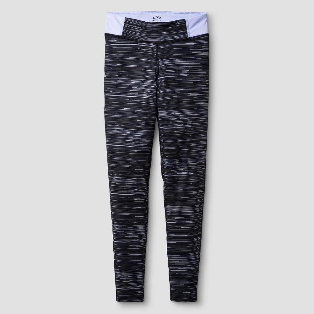 Girls' Printed Performance Yoga Legging Gray M - C9 Champion, Girl's, Size: Medium, Grey