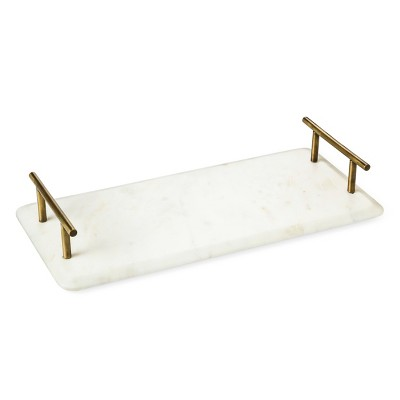 Marble Tray with Brass Handles - Threshold™