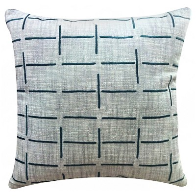 "Lined Decorative Pillow Grey/Blue (18""x18"") - Threshold™"