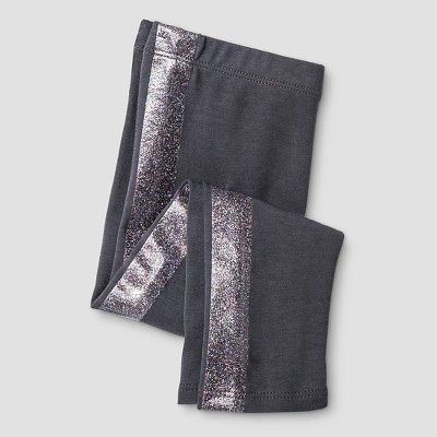 Baby Girls' Favorite Legging Baby Sparkle Stripe Grey 12M - Cat & Jack™