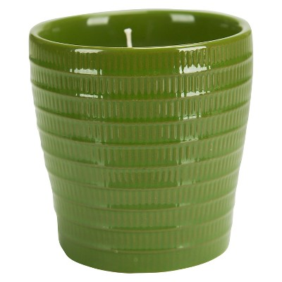Ceramic Jar Candle Green - Water Lily - Pure & Natural by Chesapeake Bay