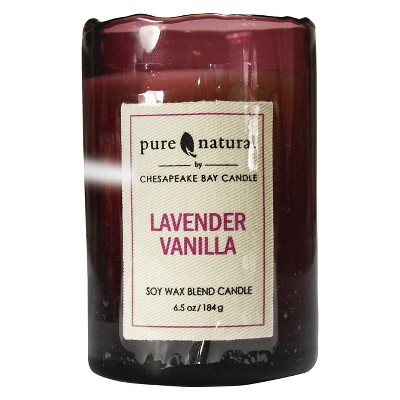 Glass Container Candle Large - Lavender Vanilla - Pure & Natural by Chesapeake Bay