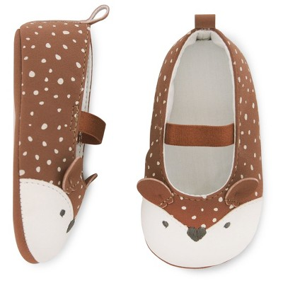 Baby Girls' Deer Mary Jane Shoe Baby Cat & Jack™  - Brown 0-3M