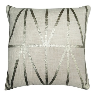"Geometric Decorative Pillow White (18""x18"") - Threshold™"