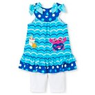 Young Hearts Toddler Girls' Crab Tank 2 Piece Short Set 2T - Blue