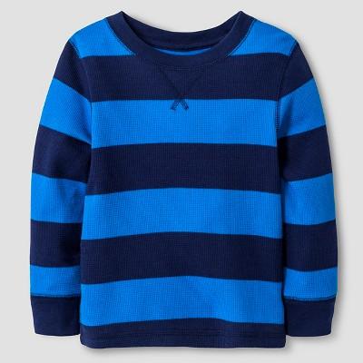 Toddler Boys' Henley Shirt Cat & Jack™ - Nightfall Blue 2T