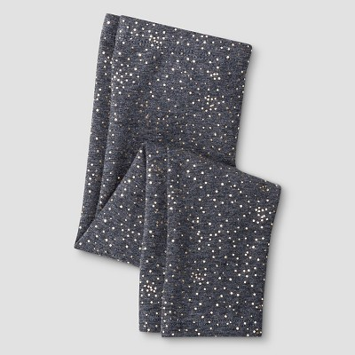 Baby Girls' Favorite Legging Baby Gold Scatter Grey 12M - Cat & Jack™