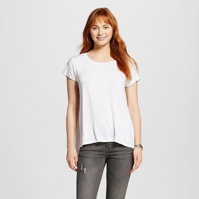 Women's Drapey Tee White XS - Mossimo Supply Co.™ (Juniors')