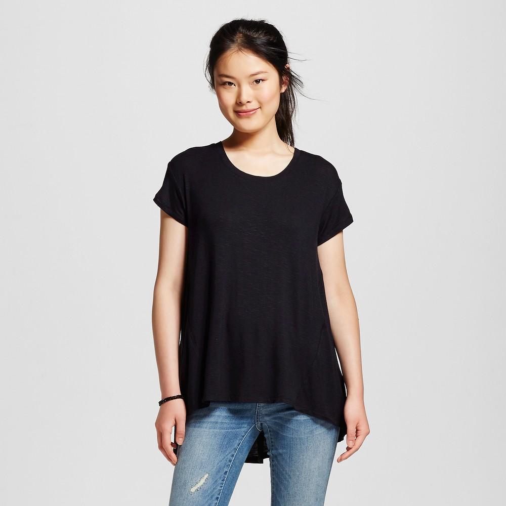 Women's Drapey Tee Black M - Mossimo Supply Co. (Juniors'), Size: Medium