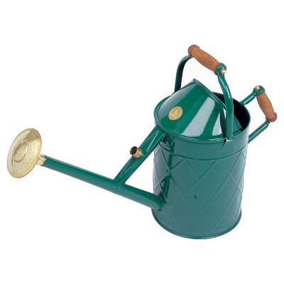 Haws Heritage Watering Can with Wood Handles - Green - 2.4 Gal