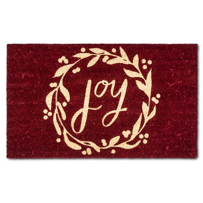 "Holiday Joy Wreath - Red - (1'6""x2'6"") - Threshold™"